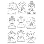 Simple Stories - Little Princess Collection - Clear Photopolymer Stamps - Pretty Princess
