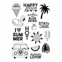 Simple Stories - Sunshine and Blue Skies Collection - Clear Photopolymer Stamps - Stay Cool