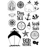 Simple Stories - Cruisin' Collection - Clear Photopolymer Stamps - Set Sail