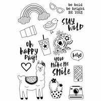 Simple Stories - Oh Happy Day Collection - Clear Photopolymer Stamps - Be You