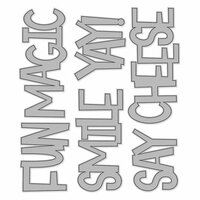 Simple Stories - Say Cheese 4 Collection - Metal Dies - Fun Words - Large