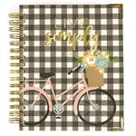 Carpe Diem - Live Simply Collection - 17 Month Weekly Spiral Planner with Gold Foil Accents - Aug. 2019 to Dec. 2020
