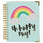 Carpe Diem - Oh Happy Day Collection - 17 Month Weekly Spiral Planner with Gold Foil Accents - Aug. 2019 to Dec. 2020