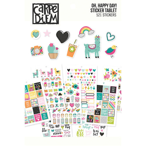 Simple Stories - Carpe Diem - Oh Happy Day Collection - A5 Sticker Tablet