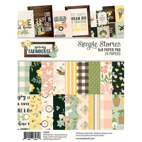 Simple Stories - Spring Farmhouse Collection - 6 x 8 Paper Pad