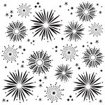 Simple Stories - Say Cheese 4 Collection - 6 x 6 Stencil - Fireworks