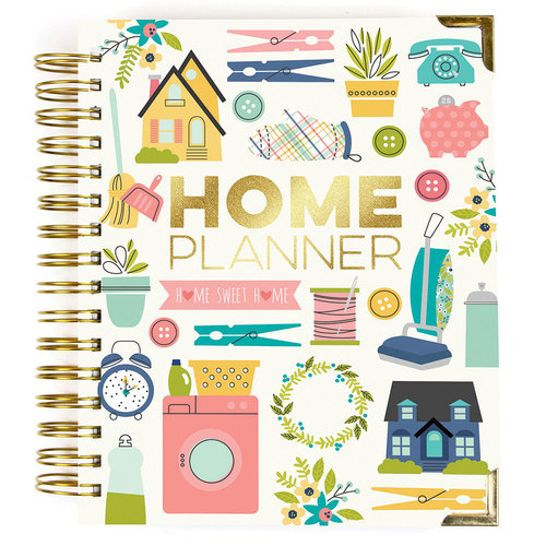 Carpe Diem - Home Collection - Spiral Planner with Gold Foil Accents - Undated