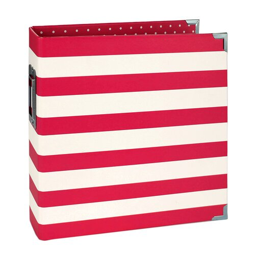 Simple Stories - SNAP Studio Collection - Designer Binder - Red Stripe