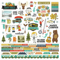 Simple Stories - Happy Trails Collection - 12 x 12 Cardstock Stickers - Combo