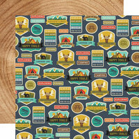 Simple Stories - Happy Trails Collection - 12 x 12 Double Sided Paper - Happy Camper
