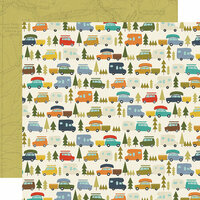Simple Stories - Happy Trails Collection - 12 x 12 Double Sided Paper - Live, Love, Explore
