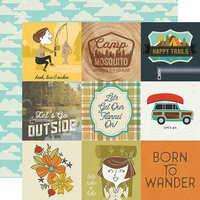 Simple Stories - Happy Trails Collection - 12 x 12 Double Sided Paper - 4 x 4 Elements