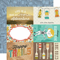 Simple Stories - Happy Trails Collection - 12 x 12 Double Sided Paper - 4 x 6 Elements