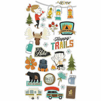 Simple Stories - Happy Trails Collection - Chipboard Stickers