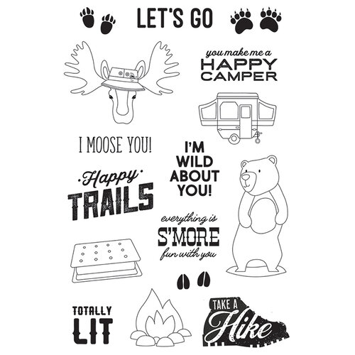 Simple Stories - Happy Trails Collection - Clear Photopolymer Stamps