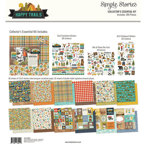 Simple Stories - Happy Trails Collection - 12 x 12 Collector's Essential Kit