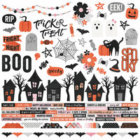 Simple Stories - Happy Haunting Collection - Cardstock Stickers - Combo