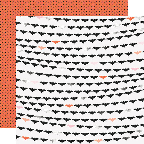 Simple Stories - Happy Haunting Collection - 12 x 12 Double Sided Paper - Going Batty