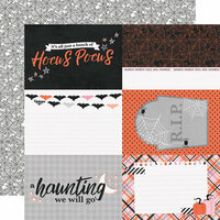 Simple Stories - Happy Haunting Collection - 12 x 12 Double Sided Paper - 4 x 6 Elements