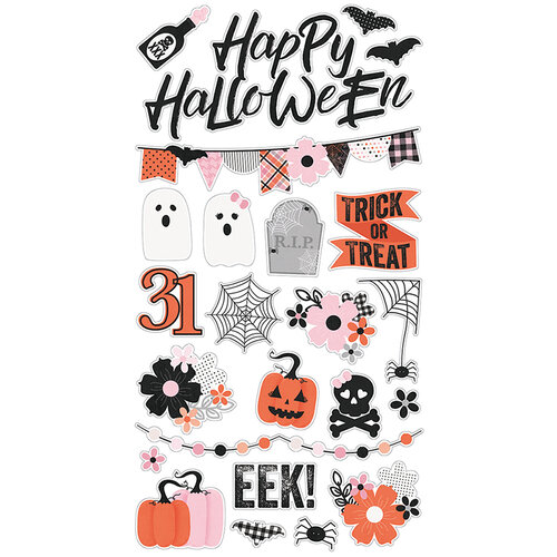 Simple Stories - Happy Haunting Collection - Chipboard Stickers