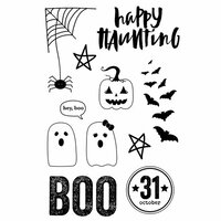Simple Stories - Happy Haunting Collection - Clear Photopolymer Stamps