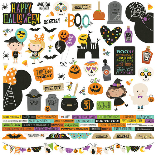 Simple Stories - Say Cheese Halloween Collection - Cardstock Stickers - Combo