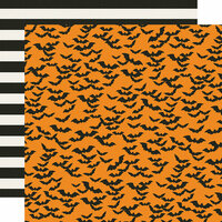 Simple Stories - Say Cheese Halloween Collection - 12 x 12 Double Sided Paper - Frankly Frightful