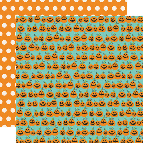 Simple Stories - Say Cheese Halloween Collection - 12 x 12 Double Sided Paper - Hey Pumpkin