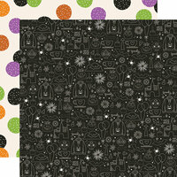 Simple Stories - Say Cheese Halloween Collection - 12 x 12 Double Sided Paper - Magical Night