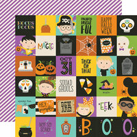 Simple Stories - Say Cheese Halloween Collection - 12 x 12 Double Sided Paper - 2 x 2 Elements