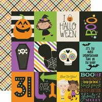 Simple Stories - Say Cheese Halloween Collection - 12 x 12 Double Sided Paper - 3 x 4 Elements