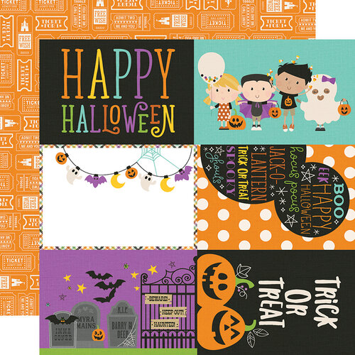 Simple Stories - Say Cheese Halloween Collection - 12 x 12 Double Sided Paper - 4 x 6 Elements