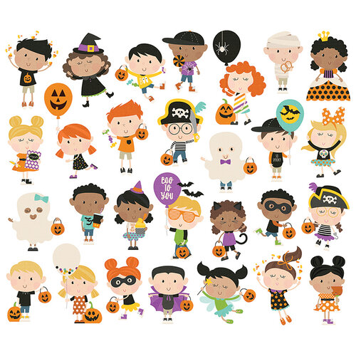 Simple Stories - Say Cheese Halloween Collection - Bits and Pieces - Happy Kids