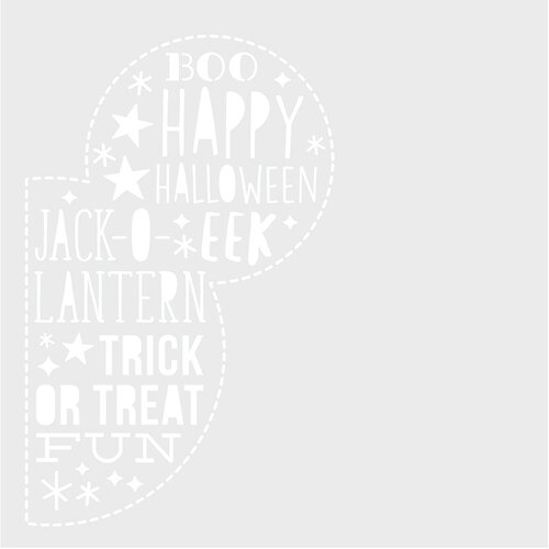 Simple Stories - Say Cheese Halloween Collection - 6 x 6 Stencil