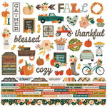 Simple Stories - Fall Farmhouse Collection - 12 x 12 Combo Sticker