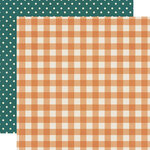 Simple Stories - Fall Farmhouse Collection - 12 x 12 Double Sided Paper - Pumpkin Spice