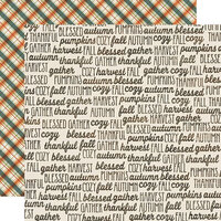 Simple Stories - Fall Farmhouse Collection - 12 x 12 Double Sided Paper - Fall Memories