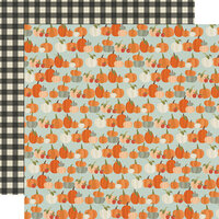 Simple Stories - Fall Farmhouse Collection - 12 x 12 Double Sided Paper - Lil' Pumpkin