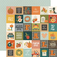 Simple Stories - Fall Farmhouse Collection - 12 x 12 Double Sided Paper - 2 x 2 Elements