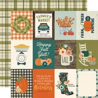 Simple Stories - Fall Farmhouse Collection - 12 x 12 Double Sided Paper - 3 x 4 Elements