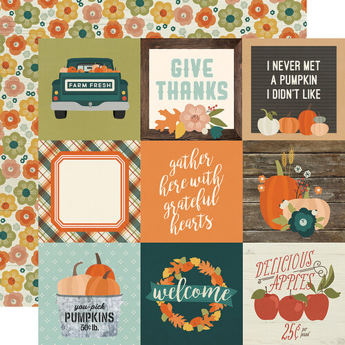 Simple Stories - Fall Farmhouse Collection - 12 x 12 Double Sided Paper - 4 x 4 Elements