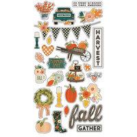 Simple Stories - Fall Farmhouse Collection - Chipboard Stickers