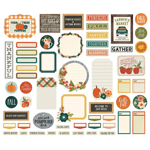 Simple Stories - Fall Farmhouse Collection - Journal Bits and Pieces