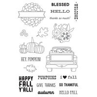 Simple Stories - Fall Farmhouse Collection - Clear Photopolymer Stamps