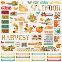Simple Stories - Autumn Splendor Collection - 12 x 12 Combo Sticker