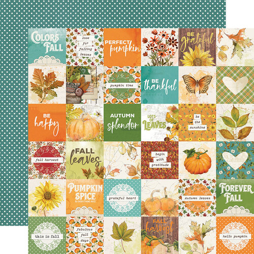 Simple Stories - Autumn Splendor Collection - 12 x 12 Double Sided Paper - 2 x 2 Elements