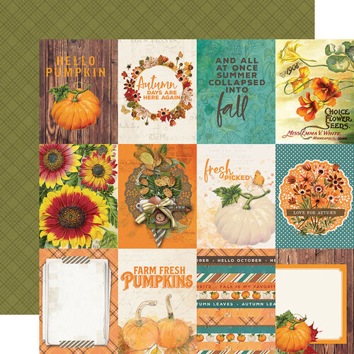 Simple Stories - Autumn Splendor Collection - 12 x 12 Double Sided Paper - 3 x 4 Elements
