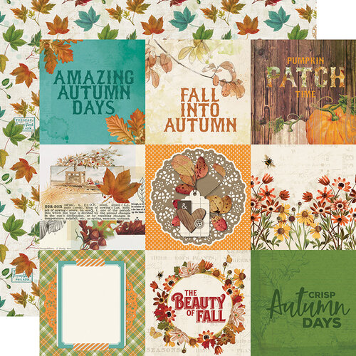 Simple Stories - Autumn Splendor Collection - 12 x 12 Double Sided Paper - 4 x 4 Elements