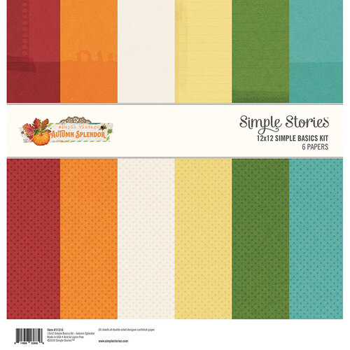 Simple Stories - Autumn Splendor Collection - 12 x 12 Simple Basics Kit