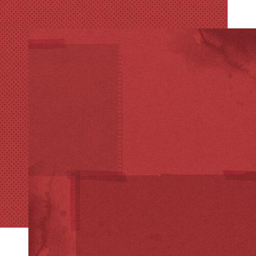 Simple Stories - Autumn Splendor Collection - 12 x 12 Double Sided Paper - Crimson Dots